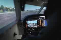 Flugsimulator Aussicht
