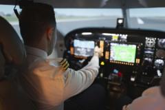 Pilot am Steuer