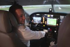 Pilot im Simulator