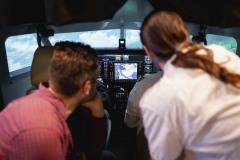 Sicht ins Cockpit
