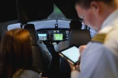 Simulator einstellen im Cockpit