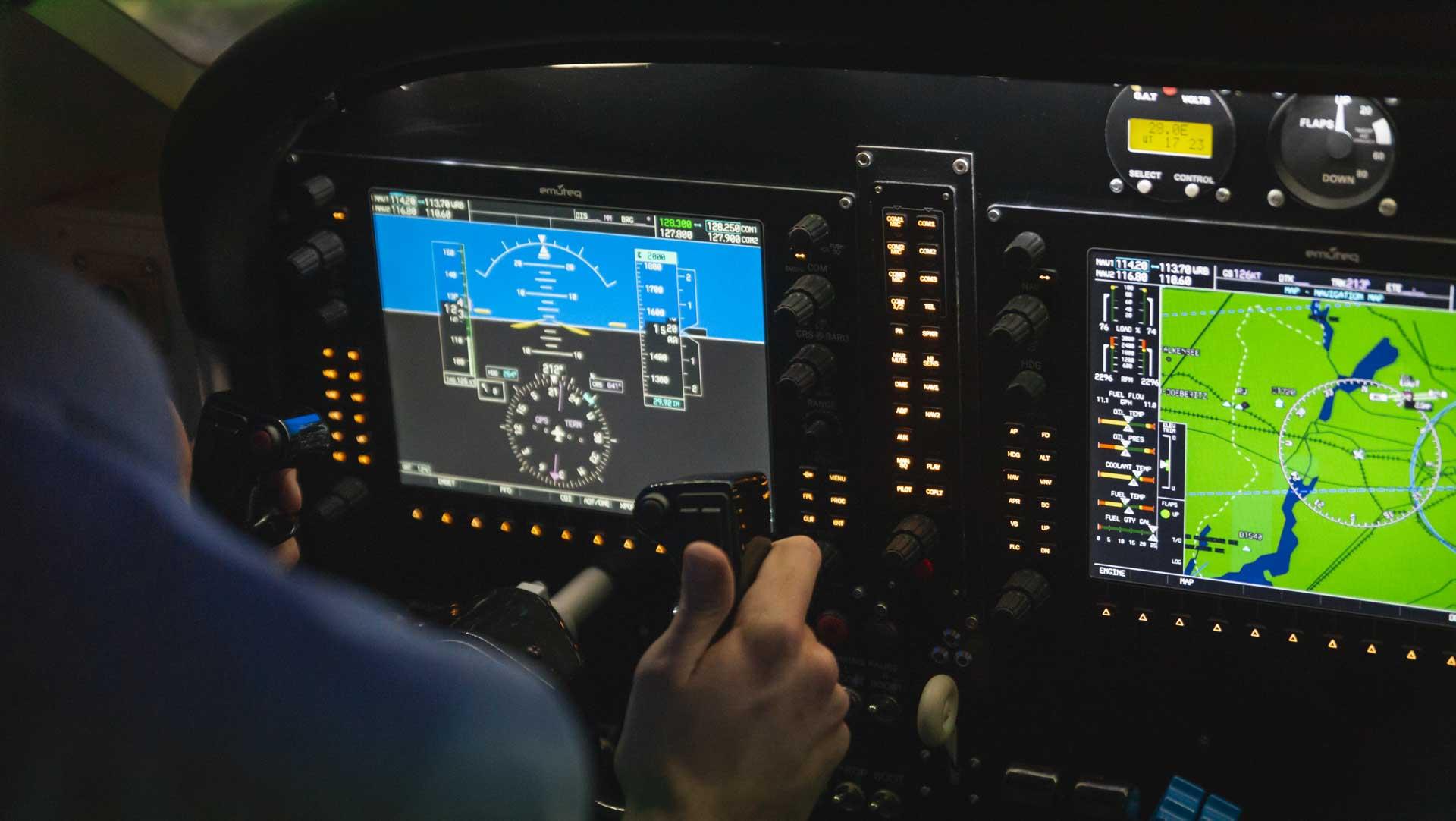 Cockpit Flugsimulator