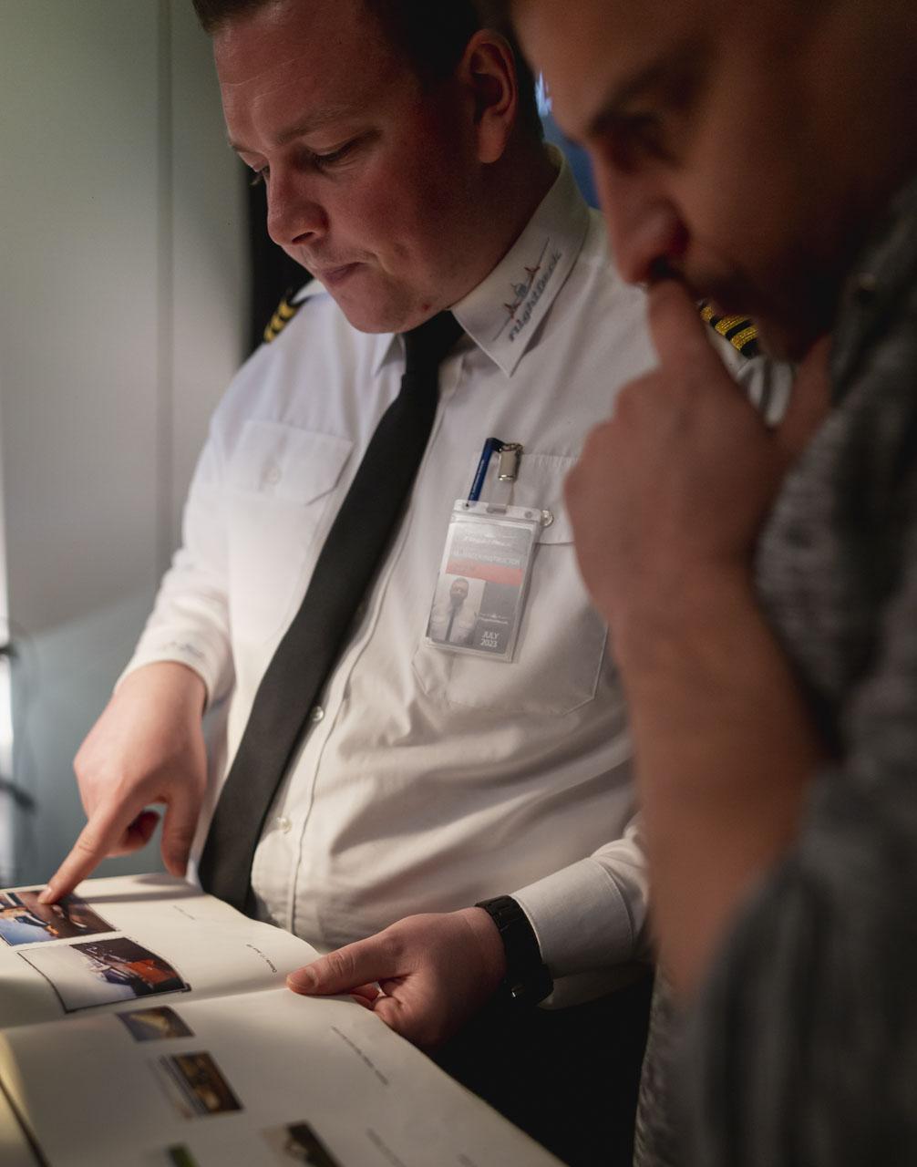 Pilot mit Gast
